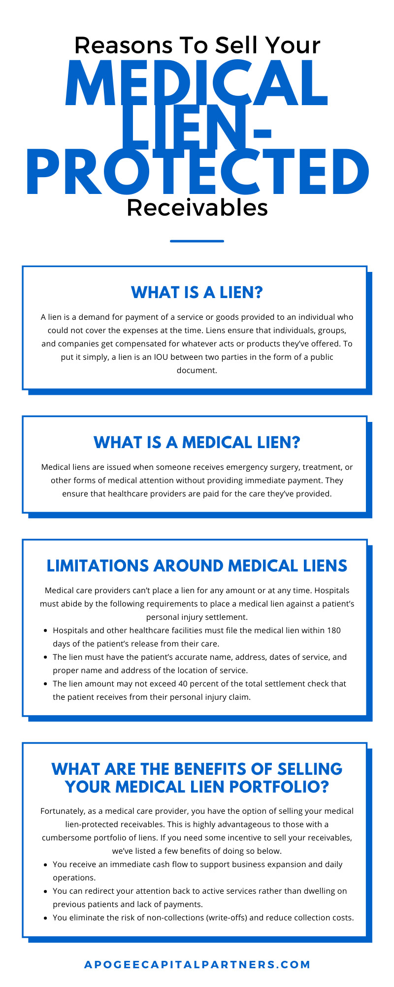 Reasons To Sell Your Medical Lien-Protected Receivables